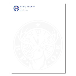 elks usa 2 color with faux watermark letterhead